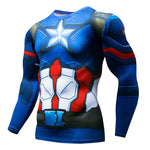 Super hero Fitness MMA Compression Shirt Men Anime Bodybuilding Long Sleeve 3Deticdress-eticdress