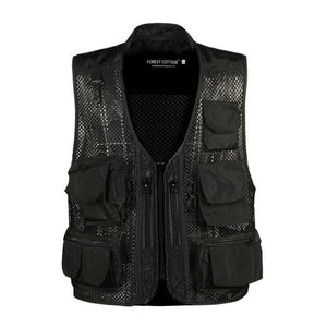 2018 Causal Mens Waistcoat Sleeveless Summer Baggy Multi Pocket Photographers Male Vesteticdress-eticdress