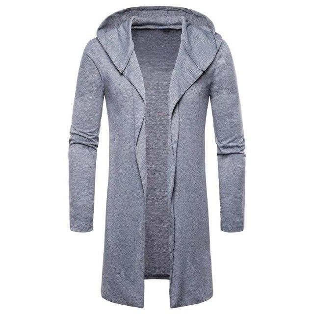 Men Spring Autumn Trench Coat Jacket Casual Hooded Long Capes Outweareticdress-eticdress