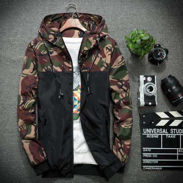 2018 New Casual Camouflage Jacket Men Hooded Bomber Jackets Mens Brand Slimeticdress-eticdress