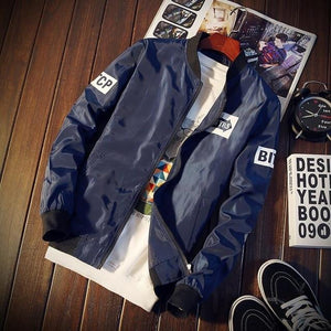 Mens Bomber Jackets with Patches 2018 New Streetwear Flight Pilot Jacket Meneticdress-eticdress