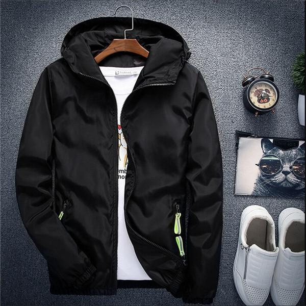 2018 New Spring Autumn Bomber Windbreaker Jacket Men Casual Slim Hooded Thineticdress-eticdress