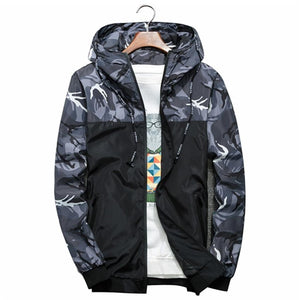 2018 Autumn New Fashion Brand Men Windbreaker Jacket Mens Hooded Casualeticdress-eticdress