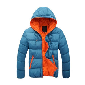 2018 New Luxury Men's Winter Jacket Fashion Red Parka Men Hooded Downeticdress-eticdress