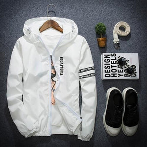 Spring Autumn New Fashion Slim Fit Young Men Hooded Jacket Thin Jacketseticdress-eticdress