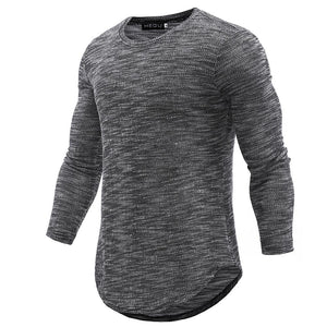 T-Shirt Men 2018 Spring Autumn New Cotton T Shirt Men Solid Coloreticdress-eticdress