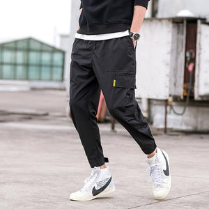 2018 new Japanese men's fashion feet leisure trouser Hip Hop Cargo Pantseticdress-eticdress