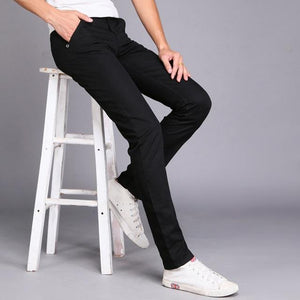 Jeans Autumn Winter New Fashion 2018 Slim Straight Men Casual Pants Maneticdress-eticdress