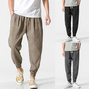 Plus Size S-5XL Men Harem Pants Joggers Casual Wide Legs Trouserseticdress-eticdress