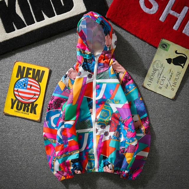 YouthCodes Camouflage Jackets Men Colorful Military Windbreaker Zipper Thin Sunscreen Windproof Graffitieticdress-eticdress