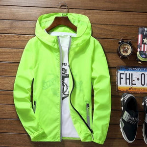 New Fashion Brand 2018 Spring and Autumn thin Reflective jacket windbreaker meneticdress-eticdress
