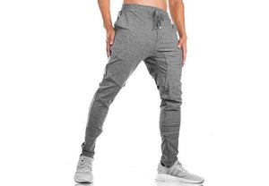 New2018 Men's Pants Long Trousers pure color Tracksuit Fitness Sweatpantseticdress-eticdress