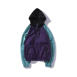 YouthCodes Hooded Jacket Men New Letter Print Trend Fashion Windbreaker Women Hipeticdress-eticdress