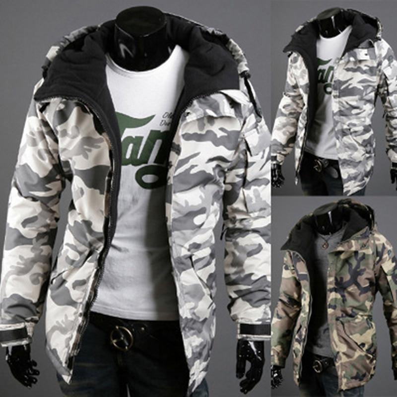 Fashion Spring Winter Jacket Men Parkas Outerwear Military Camouflage Hooded Coat Meneticdress-eticdress