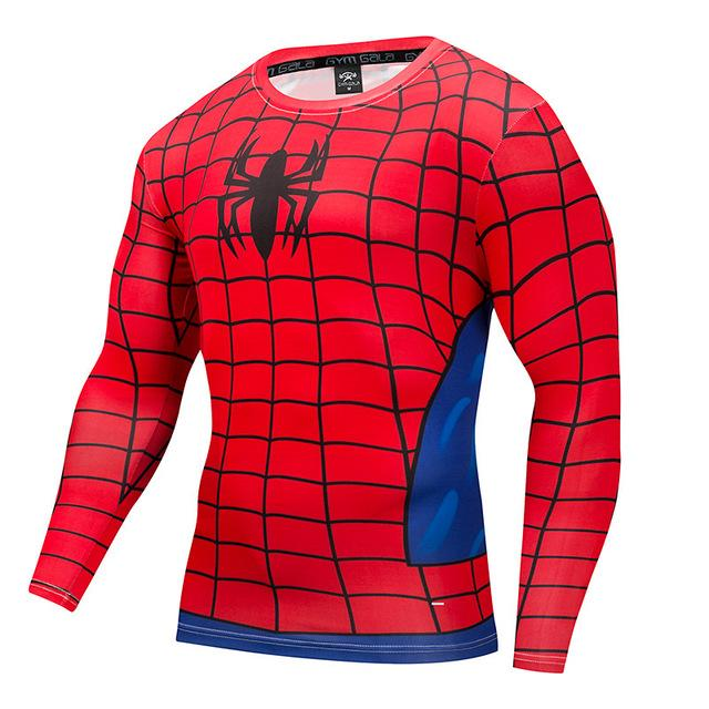 New Spiderman T shirt Men Compression T-shirt Fitness Spider Man T-shirts Bodybuildingeticdress-eticdress