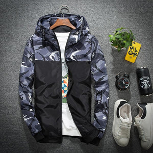 Wholesale Price Windbreaker Zipper Outwear Hooded Brand Clothing Men Bomber Jacket Thineticdress-eticdress