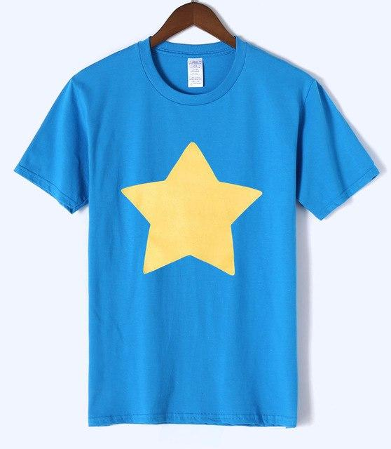100% Cotton Casual Top Mens T-shirt STEVEN UNIVERSE STAR 2018 Summer Neweticdress-eticdress