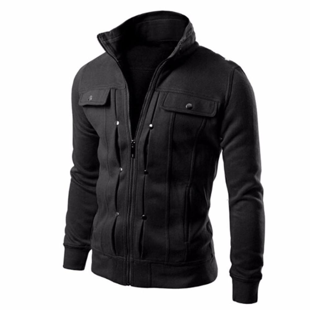 New Fashion Autumn Winter Men Jackets Coat Stand Collar Slim Designed Lapeleticdress-eticdress