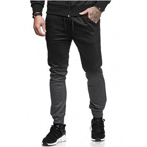 2018 New Men'S Pants Fashion Brand Slim Gradient Stitching Elasticity Men Casualeticdress-eticdress