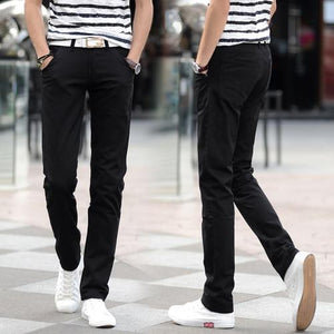 2018 Spring Summer New Casual Pants Men Cotton Slim Fit Chinoseticdress-eticdress