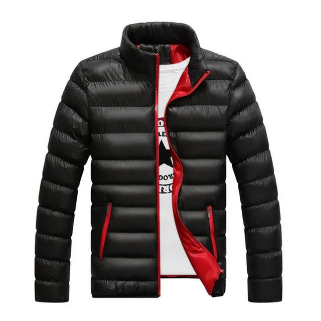 2018 Men Winter Jackets Autumn Men's Cotton-Padded Solid Thick Parkas Casual Outweareticdress-eticdress