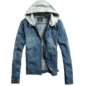 2018 Fashion New Men's Casual Hooded Removable Denim Jacket / Man's cowboyeticdress-eticdress