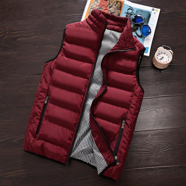 2018 autumn winter fashion new men's casual warm down vest / Man'seticdress-eticdress