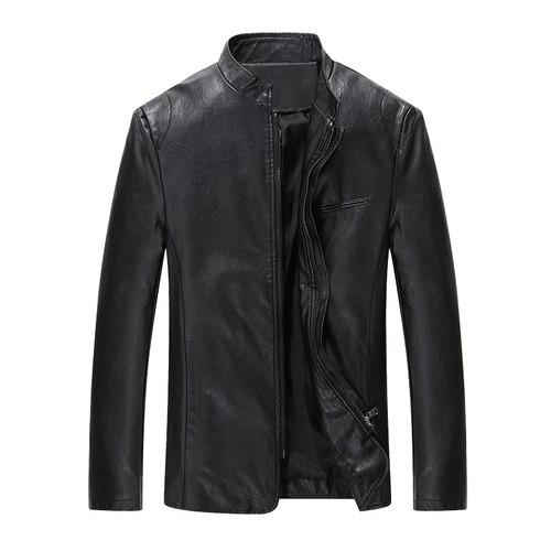 2018 Autumn Winter Men Casual Businessmen Leather Jacket PU Fashion Motorcycle Ridereticdress-eticdress