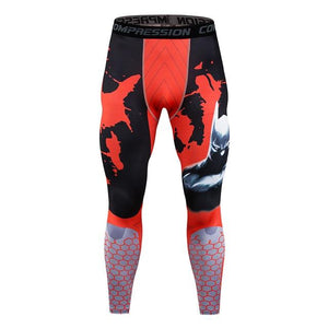 Fitness Leggings Men's New Compression Stretch Pants Quick-dry Comfort Pants Spider Printeticdress-eticdress