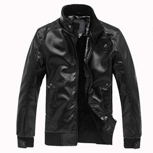 New Arrived Motorcycle Leather Men's Jackets Male Slim Coats With Zipper Maneticdress-eticdress