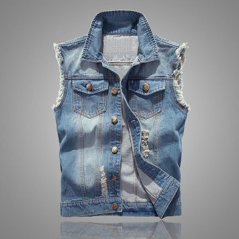 HO new 2018 cowboy vests men's cultivate one's morality light blue vesteticdress-eticdress