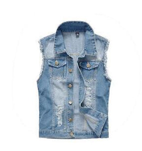2018 men's denim vest large size men's vesteticdress-eticdress