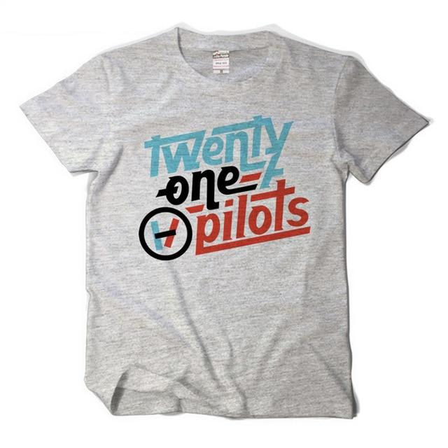 Twenty One Pilots T shirt Double Line Logo Men/Women shirts band Twentyeticdress-eticdress