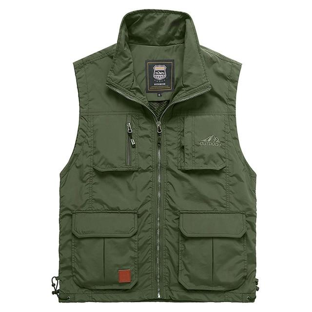 Summer Mesh Thin Multi Pocket Vest For Male Big Size Male Casualeticdress-eticdress