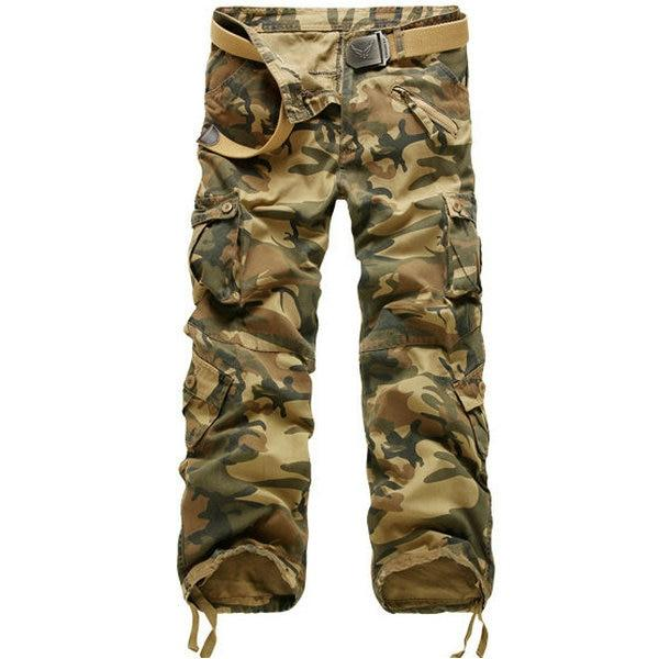 2018 New Cotton Cargo Pants Men Military Style Tactical Workout Straight Meneticdress-eticdress