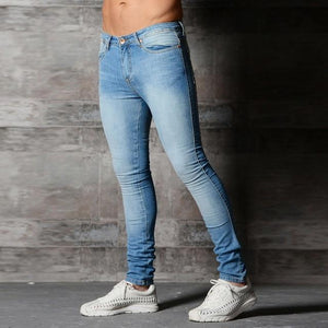 VERTVIE Skinny Jeans For Men Blue Hip Hop Long Stretch Jeans Hombreeticdress-eticdress