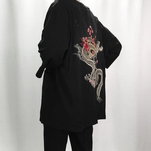 Man linen kimono jackets men cotton linen jackets irregular embroidery kimono chineseeticdress-eticdress