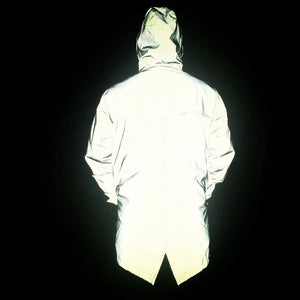 2018 male long hip-hop The reflective dovetail jacket 3 m reflective jacketseticdress-eticdress