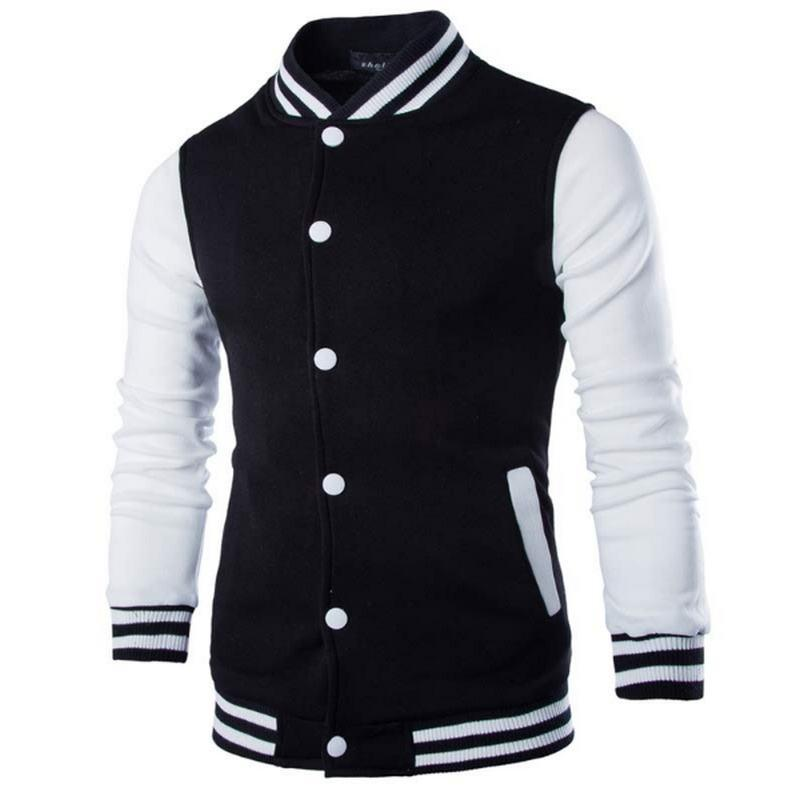 New Men/Boy Baseball Jacket Men 2018 Fashion Design Wine Red Mens Slimeticdress-eticdress