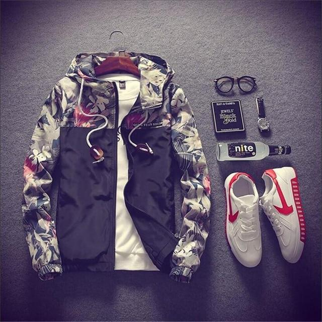 New 2018 Men's Fashion Boutique Slim Movement Hooded Jackets Coats / Thineticdress-eticdress