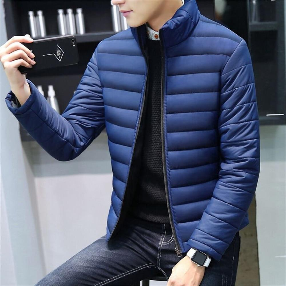 2018 Men Winter Jackets Coat Padded Thicken Parkas Men Fashion Stand Collareticdress-eticdress