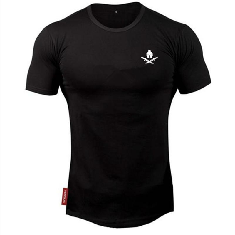 Mens summer new t -shirt workout Fitness Bodybuilding Shirts Slim fit Fashioneticdress-eticdress