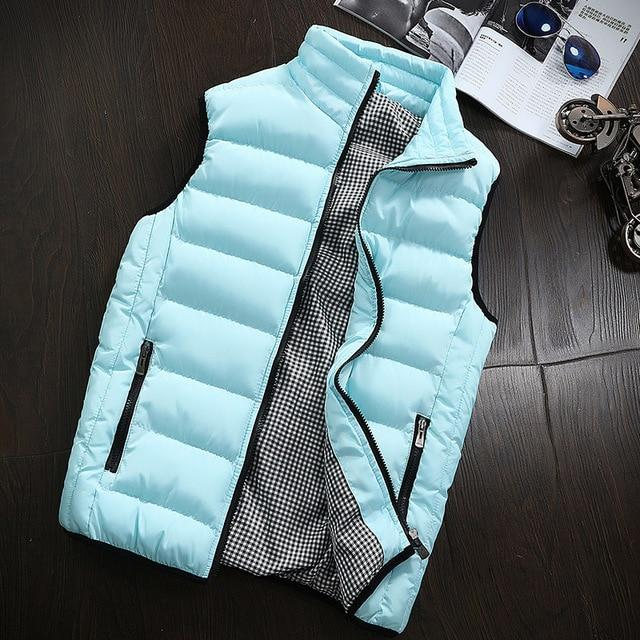 Vest Men Fashion Stand Collar Men's Sleeveless Outwear Jackets Casual Slim Cottoneticdress-eticdress