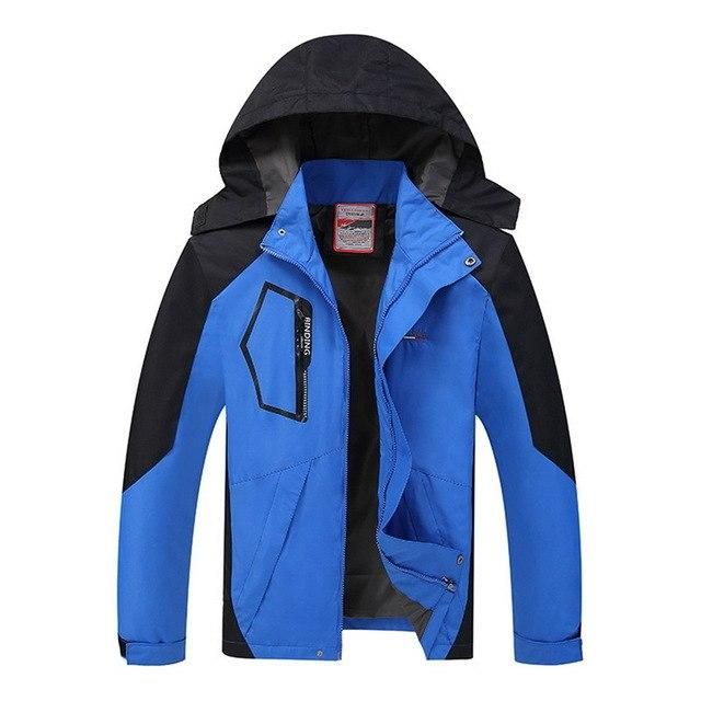 2018 Large Size 5XL Men Jacket Autumn Hooded Windbreaker Outerwear&Coats Fashioneticdress-eticdress