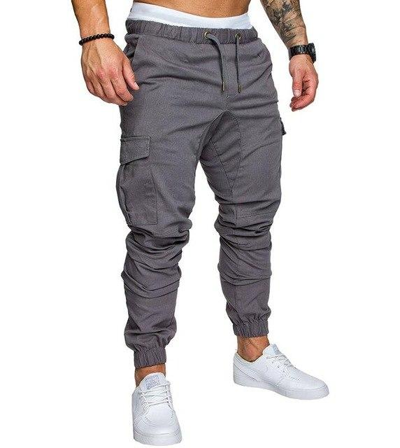 2018 Men Pants Fashion Brand Tooling Pockets Joggers New Pants Male Trouserseticdress-eticdress