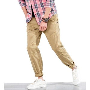 2018 Spring Autumn Hot Fashion Casual Trousers Men Cargo Pants Cotton Casualeticdress-eticdress