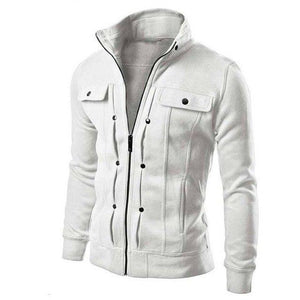 Fashion Men Jacket Spring Autumn Pocket Solid brushed Coat Jackets Mens Standeticdress-eticdress