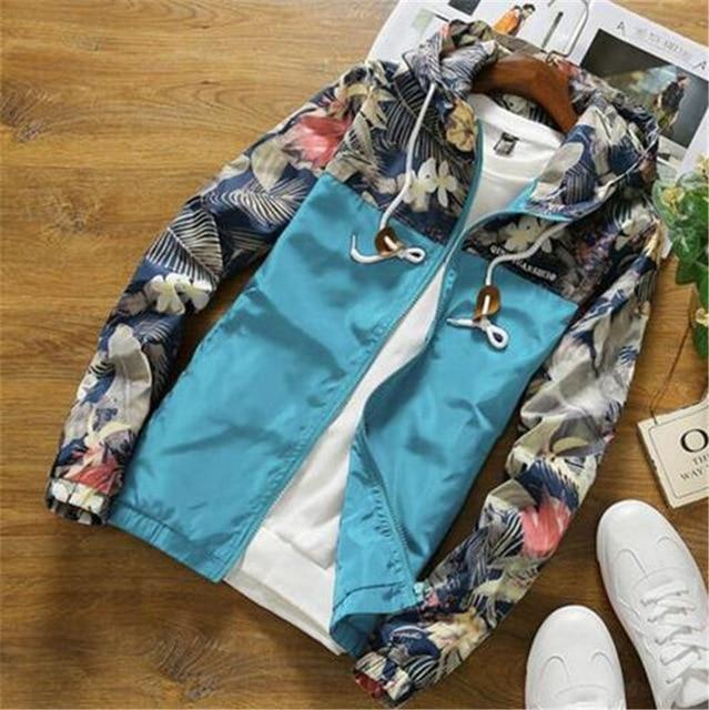 2018 Men Bomber Jacket Thin Slim Long Sleeve Camouflage Military Jackets Hoodedeticdress-eticdress