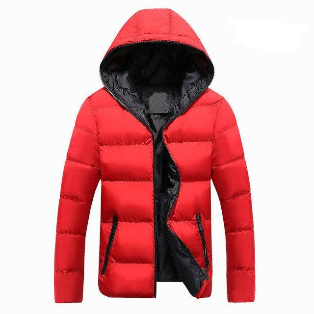 2018 New Autumn Winter Jacket Men Casual Slim Fit Hooded Parka Meneticdress-eticdress