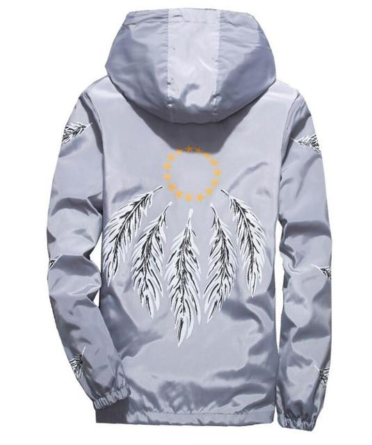 feather wing jacket windbreaker men women jaqueta masculina spring autumn collegeeticdress-eticdress